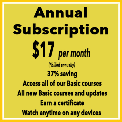 WMHI-online basic courses annual subscription