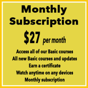 WMHI-online basic courses monthly subscription